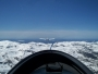 On aero-tow over the Sierra Nevada mountains heading for lake Tahoe