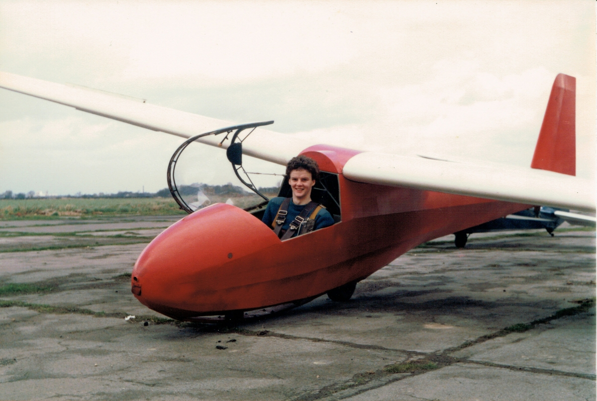 Getting ready to take off in the club K8 in 1985.