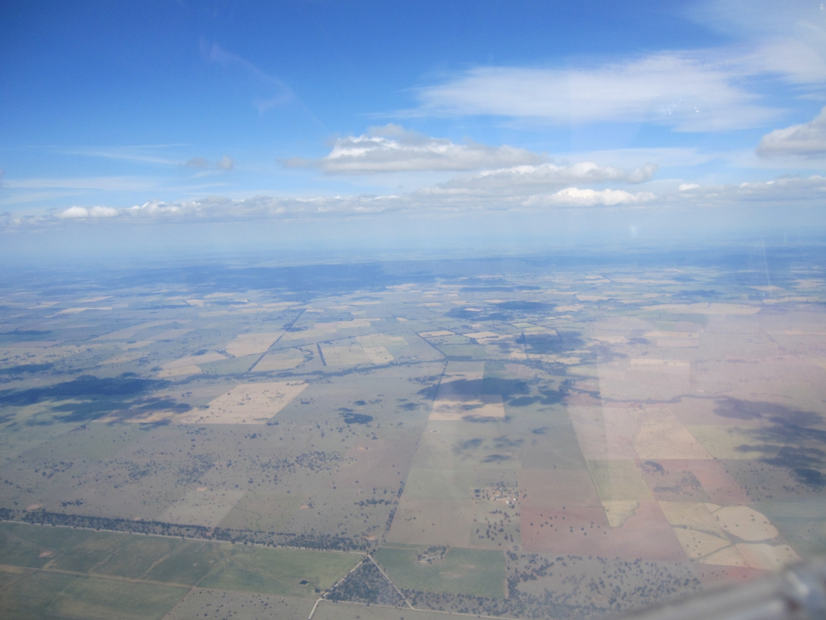 Typical scenery from 8000 ft in a glide to the next thermal
