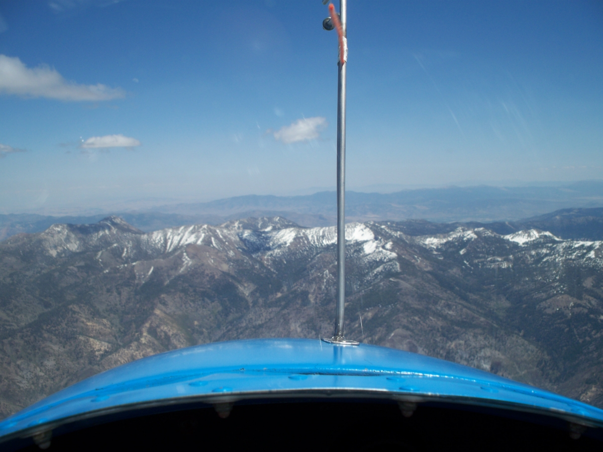 Flying towards Rose Mountain which peaks at 11,000ft.