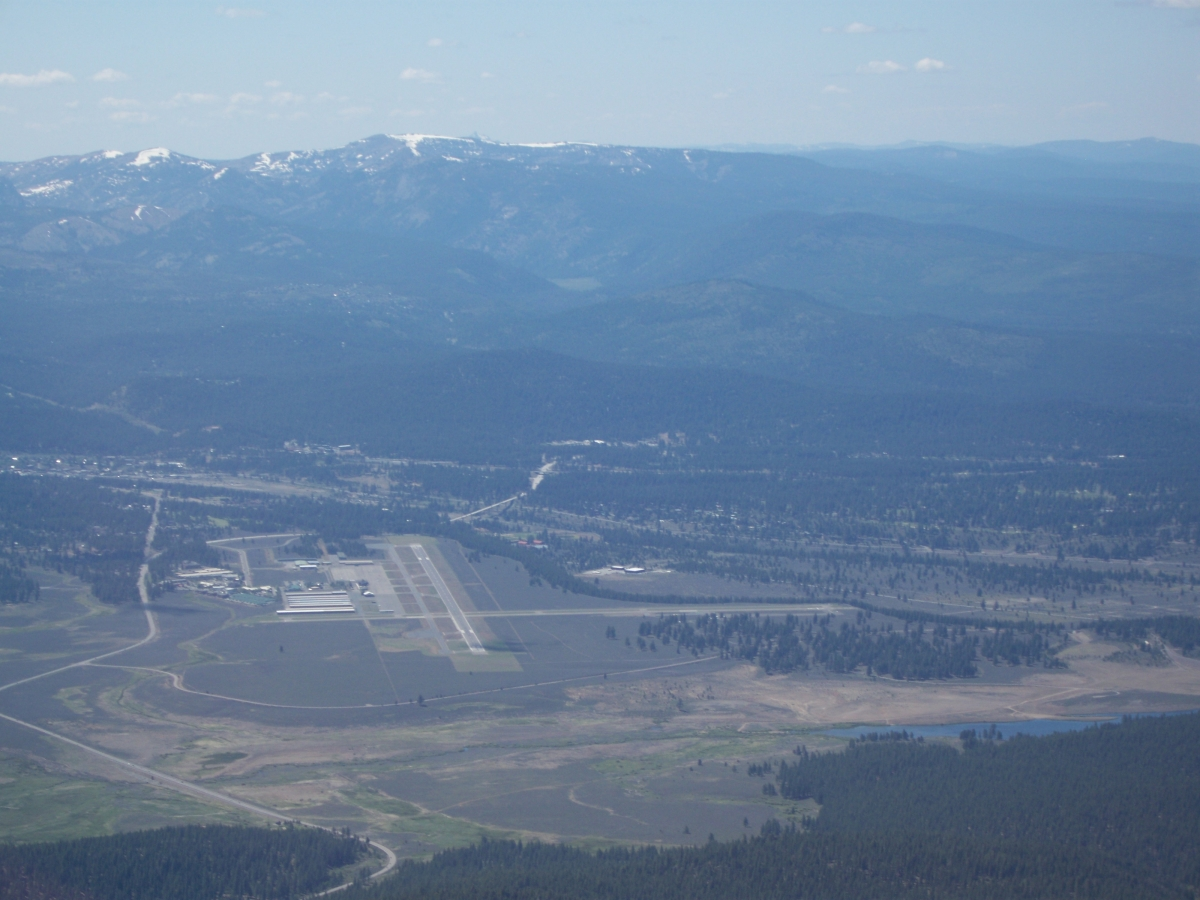 Looking at Truckee Airport from the East.